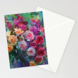 Tea Roses Stationery Cards