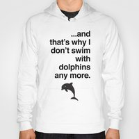 dolphins Hoodies featuring Dolphins by Tom Peno