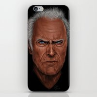 clint barton iPhone & iPod Skins featuring Clint by Palm