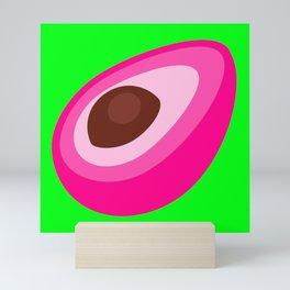 Pink Avocado On Green Background Art Simple Colourful Decor Gift Idea Mini Art Print
