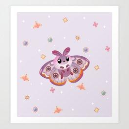 Marbled Emperor Moth Art Print