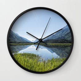 Alaska Summer Light on Tern Lake Wall Clock