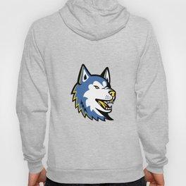 Siberian Husky Dog Mascot Hoody