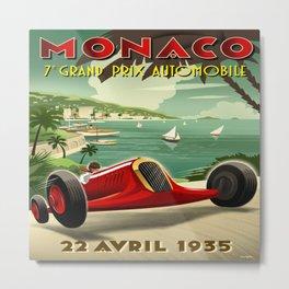 Monaco Grand Prix 1935 Metal Print