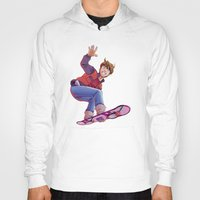 mcfly Hoodies featuring Mcfly on Hoverboard by senseidani