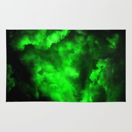Envy - Abstract In Black And Neon Green Rug