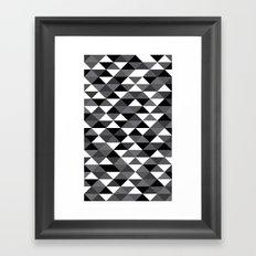 Triangle Pattern #4 Framed Art Print