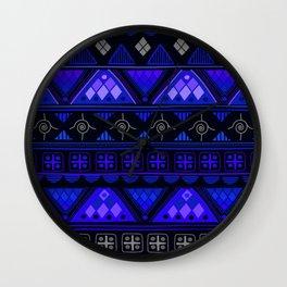 Boho Geometric Pattern Var. 2 Wall Clock