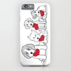 Valentine's Day Dogs Slim Case iPhone 6s