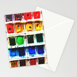 Watercolor Pallette Stationery Cards