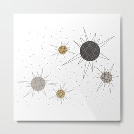 Atomic Stars Neutral Metal Print
