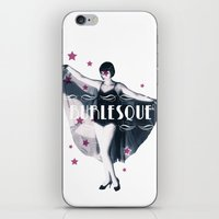 burlesque iPhone & iPod Skins featuring BURLESQUE by TOO MANY GRAPHIX