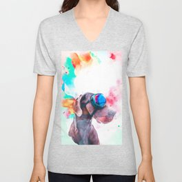 Great Dane Illustration Unisex V-Neck