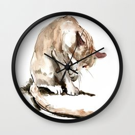 Cat, cat design cat lover, cat sketch Wall Clock