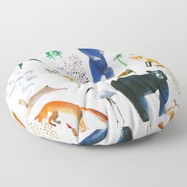 Canadian Native Animal Print Floor Pillow