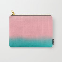 Modern abstract emerald green pink coral ombre Carry-All Pouch