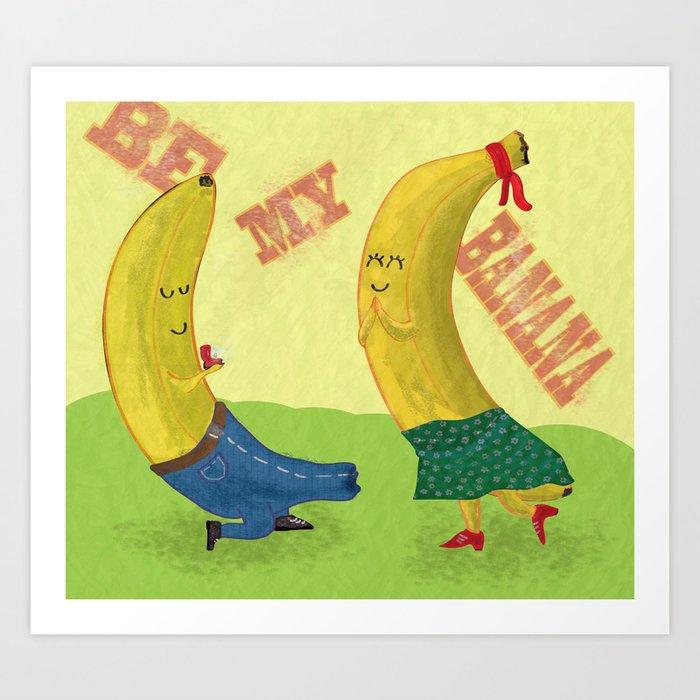 Banana Love Art Print