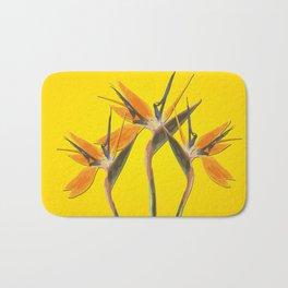 strelitzia - Bird of Paradise Flowers II Bath Mat