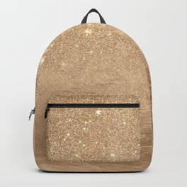 Glamorous Gold Sparkly Glitter Foil Ombre Gradient Backpack