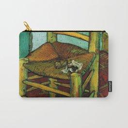 Van Gogh, Van Gogh's Chair – Van Gogh,Vincent Van Gogh,impressionist,post-impressionism,brushwork,pa Carry-All Pouch
