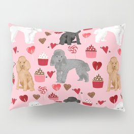 Toy Poodles mixed coat valentines day cupcakes love hearts dog breed gifts pet portraits must haves Pillow Sham