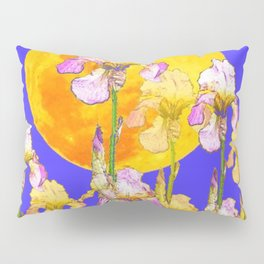 IRIS GARDEN & RISING GOLD MOON  DESIGN ART Pillow Sham