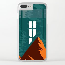 Window From Mountains Clear iPhone Case