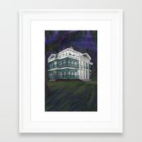 haunted mansion Framed Art Prints featuring The Haunted Mansion by Nissa Taylor