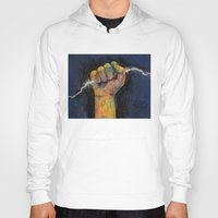 lightning Hoodies featuring Lightning by Michael Creese