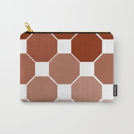 Brown Pattern Carry-All Pouch
