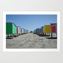Beach Lockers Art Print