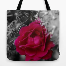 Cactus Rose Tote Bag