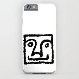 Minimalist Brush Stroke Face 011 iPhone Case