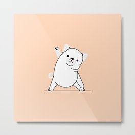 Yoga Dog V Metal Print