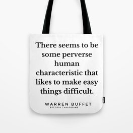 19  | Warren Buffett Quotes | 190823 Tote Bag