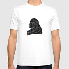 Back White Mens Fitted Tee MEDIUM
