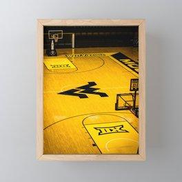 West Virginia Home Court Framed Mini Art Print