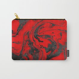 Black & Red Marble Carry-All Pouch