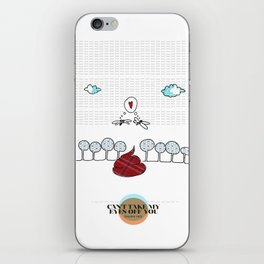 LOVE IN OUR OPINION - CAN'T TAKE MY EYES OFF YOU iPhone Skin