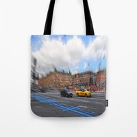 street Tote Bags featuring street by  Agostino Lo Coco