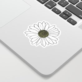 Daisy Blue Sticker