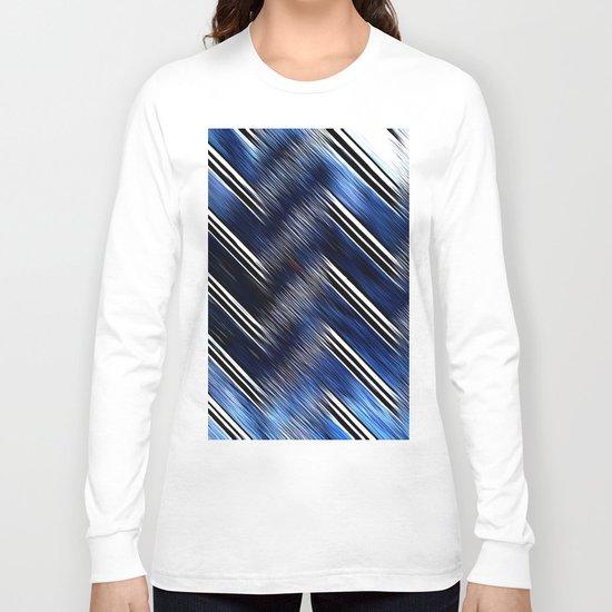 Abstract #Blue #Black #3 #art #society6 Long Sleeve T-shirt