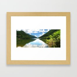 Cibin Lake, the Carpathians (Romania) Framed Art Print