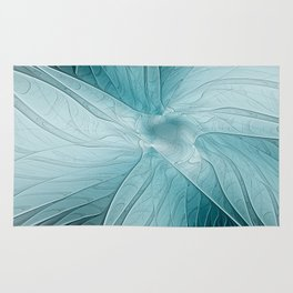 Blue Blooming, Abstract Fractal Art Rug