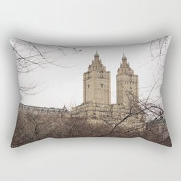 Winter in New York with the view of The San Remo apartment Rectangular Pillow