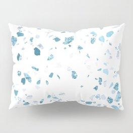 Turquoise Terrazzo White Marble Pillow Sham