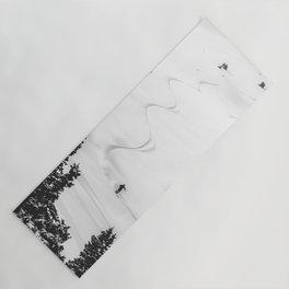 Backcountry Skier // Fresh Powder Snow Mountain Ski Landscape Black and White Photography Vibes Yoga Mat