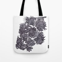 zentangle Tote Bags featuring Zentangle; by Shivani C