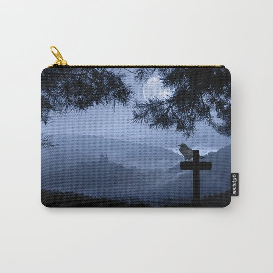 Castle in a foggy night Carry-All Pouch