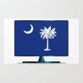 South Carolina Flag TV Rug